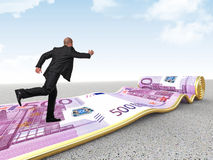 Run on money carpet Royalty Free Stock Photo