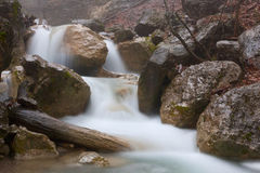 Run of mountain river Stock Photography