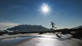 Run in the mountains freely in unspoiled nature.  stock image