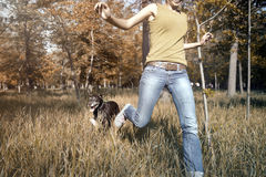 Run with my dog Stock Photography