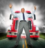 Run over by debt Stock Images