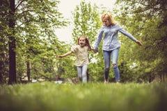 Run and play at park. royalty free stock photos