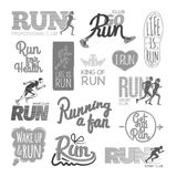Run Professional Club. Club Go Run. Life is Run. Stock Photography
