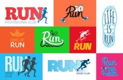 Run Professional Club. Club Go Run. Life is Run. Royalty Free Stock Photos