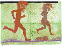 Run punk, run - an hand drawn vector, freehand sketching Royalty Free Stock Photography