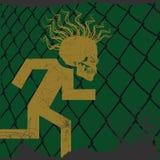 Run punk-s, run. Escape picture - run, punk-s run Royalty Free Stock Photo