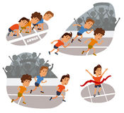 Run race. Running competition Stock Photography