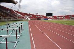 Run race track in sport stadium Royalty Free Stock Photography
