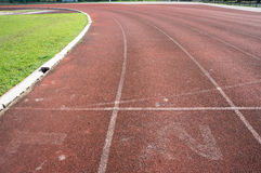 Run race track and white line stock photography