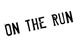 On The Run rubber stamp Stock Photos