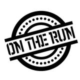 On The Run rubber stamp Royalty Free Stock Photos