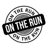 On The Run rubber stamp Stock Photography