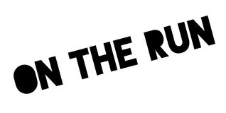 On The Run rubber stamp Stock Image