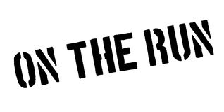 On The Run rubber stamp Royalty Free Stock Image
