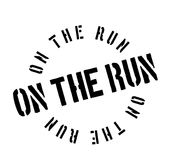 On The Run rubber stamp Stock Photo