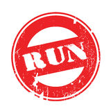 Run rubber stamp Royalty Free Stock Photography