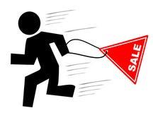 Run for sale. Vector illustration - run for sale Stock Image