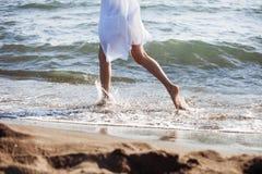 Run through sea Stock Photo