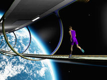 Run in space Stock Images