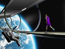 Run in space Royalty Free Stock Images