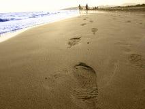 Run in summer. Two children run on seaside stock images