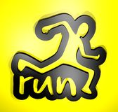 Run symbol Stock Image