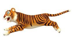 Run Tiger cartoon character Royalty Free Stock Image