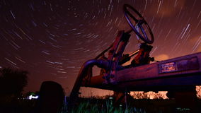 Run of time startrails timelapse stock video
