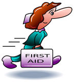 Run to first aid Stock Photo