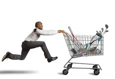 Run to go shopping Stock Photo
