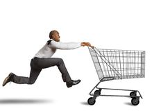 Run to go shopping Royalty Free Stock Photo