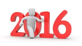 Run to new year Stock Image