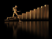Run to success Royalty Free Stock Photography