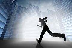 Run to work Royalty Free Stock Images
