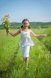 Run towards to summer Royalty Free Stock Photography