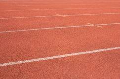 Run track. Running track on sunlight Competitive stock image