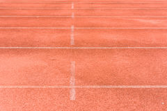 Run track and white line Stock Photos
