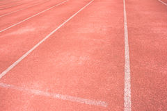 Run track and white line Stock Photo