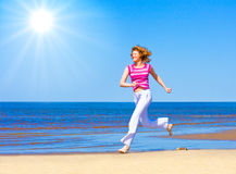 Run under sun Royalty Free Stock Image