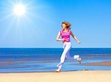 Run under sun Royalty Free Stock Image