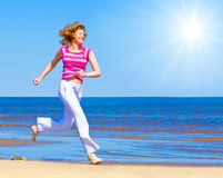 Run under sun Royalty Free Stock Photography