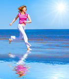 Run under sun Royalty Free Stock Photo