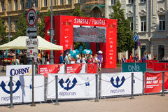 We run Vilnius / DNB half-marathon Royalty Free Stock Image