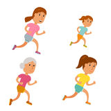 Run woman vector Royalty Free Stock Image