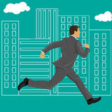 Run for your goals vector illustration
