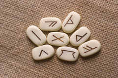 Runas. Runic stones, for astrological consultation, past, present and future Stock Photography