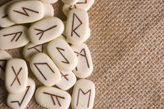 Runas. Runic stones, for astrological consultation, past, present and future Stock Images