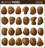 24 runas antiguas Fotografía de archivo