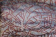 Runas antiguas en Estocolmo Runas - la escritura del G antiguo Foto de archivo