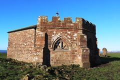 Ruínas da abadia de Cockersands, Lancashire, Inglaterra Imagens de Stock